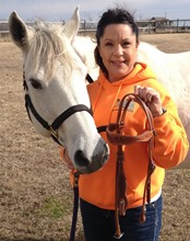 Cheryl A. Dixon with Smokey Bee Gray (barn name Molly)